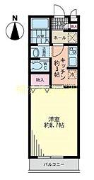 レユシール横浜西谷[2階]の間取り