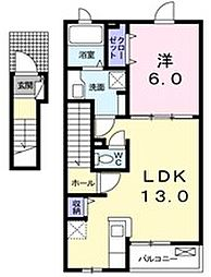 La Azalea[2階]の間取り