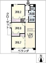 メゾン・メルベーユ[3階]の間取り