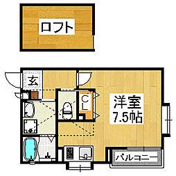 Prunus court[3階]の間取り