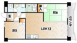プレジデントテラダ[2階]の間取り