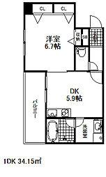 デルファーレ神戸三宮[2階]の間取り