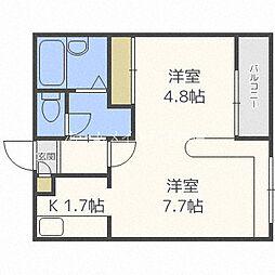 ホークメゾン札幌2号館[3階]の間取り