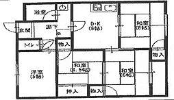 兵庫県高砂市中筋5丁目の賃貸マンションの間取り