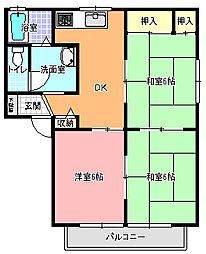 サンクレスト A棟[1階]の間取り