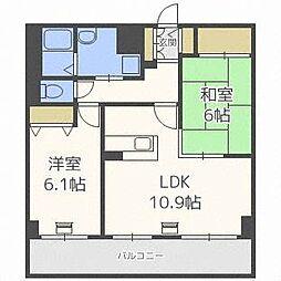 エクシード33[5階]の間取り