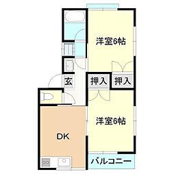 メゾンドケイI・II[1階]の間取り