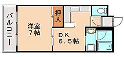 ボンツアー3番館[2階]の間取り