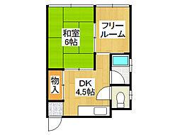 大阪府大阪市浪速区日本橋東3の賃貸マンションの間取り