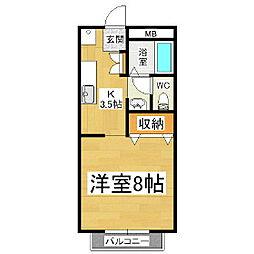 ホーユーコンホートI[1階]の間取り