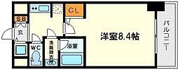 クレアートアドバンス北大阪[2階]の間取り