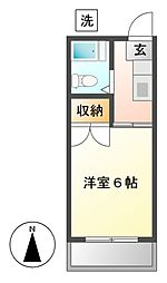神奈川県川崎市宮前区土橋6丁目の賃貸アパートの間取り