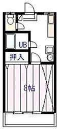 ハイツリベラールII[2階]の間取り