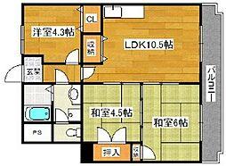 マイネハイマート深井[4階]の間取り