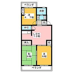 JEAN PALACE 21[2階]の間取り