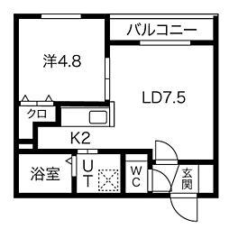 Lapis Lazuli 地下3階1LDKの間取り