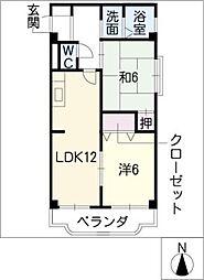 光陽ビル[4階]の間取り