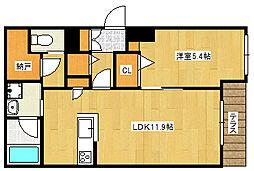阪急神戸本線 王子公園駅 徒歩13分の賃貸マンション 1階1LDKの間取り