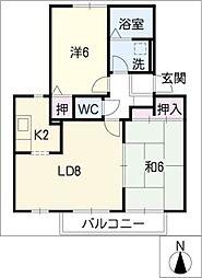 ビバーチェ[2階]の間取り