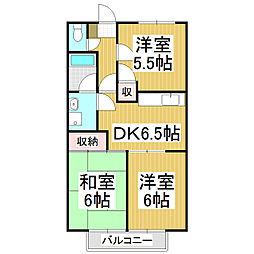 サープラスIII ミネ[2階]の間取り
