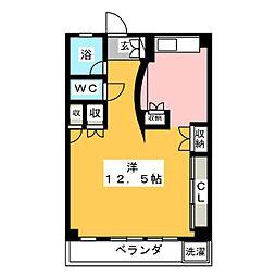 ハイネス四ッ谷[4階]の間取り