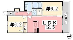 (仮)シャーメゾン飾西[102号室]の間取り