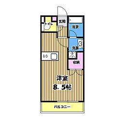 ソレアード武蔵野[4階]の間取り