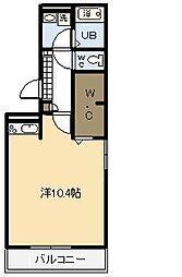 ウエストヴィレッジ2 A棟[A107号室]の間取り