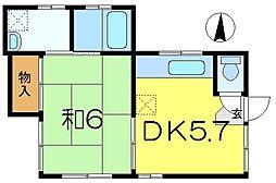 [一戸建] 神奈川県横浜市磯子区森5丁目 の賃貸【/】の間取り