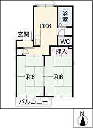 オークラ名西[2階]の間取り