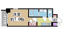 エスプレイス神戸ウエストモンターニュ[4階]の間取り