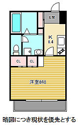 愛知県名古屋市千種区竹越1丁目の賃貸マンションの間取り