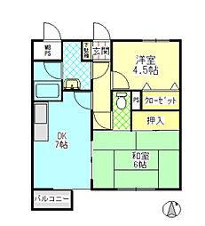 ライオンズマンション高田[305号室]の間取り