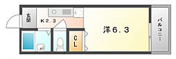 サンライズ柴田PartI[3階]の間取り