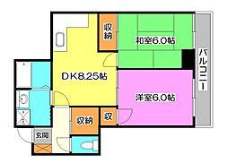 岡野ビル[3階]の間取り