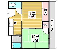 賑町文化住宅[1階]の間取り