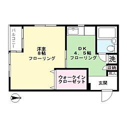 中山ファーム 南棟[3階]の間取り