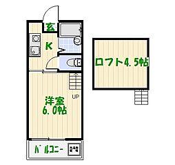 亀有マリーナ[2階]の間取り
