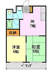 千葉県千葉市中央区松ケ丘町の賃貸マンションの間取り