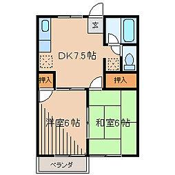 サニーハウス3[2階]の間取り