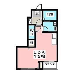 パンション岩曽[1階]の間取り