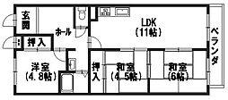 エクシーマ19[105号室]の間取り