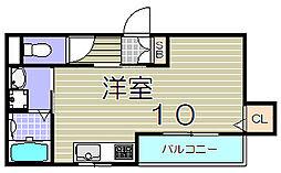 大阪府大阪市西淀川区姫島3丁目の賃貸アパートの間取り