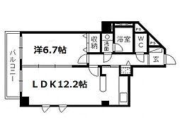 佐鳴湖パークタウンサウス[7階]の間取り