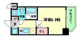 Osaka Metro千日前線 阿波座駅 徒歩9分の賃貸マンション 9階1Kの間取り