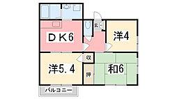 ベル新在家[202号室]の間取り