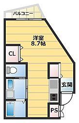 大阪府大阪市西成区玉出西2丁目の賃貸アパートの間取り