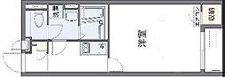 JR阪和線 東岸和田駅 徒歩26分の賃貸アパート 1階1Kの間取り