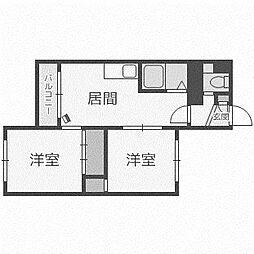 北海道札幌市西区発寒五条5丁目の賃貸マンションの間取り