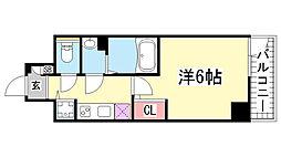 エスリード神戸三宮[7階]の間取り
